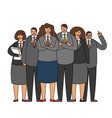 work crew business team office workers standing vector image