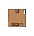cardboard box carton delivery packaging vector image