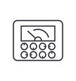 measurable indicatorsgauge line icon sign vector image
