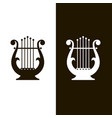 ancient lyre icons vector image