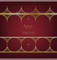 arabesque thai element pattern gold flower vector image