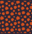 autumn seamless pattern with maple leaves vector image