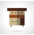 Bakery appliance flat color design icon vector image