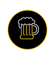 beer mug foam neon sign icon vector image