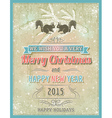 beige christmas card with decorative ornament vector image vector image