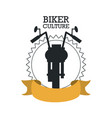 biker culture design vector image