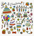 birthday party icons for your design vector image vector image
