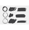 black paint scribble hand drawn doodles set vector image vector image