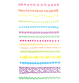 Bright Doodle Lines and Borders Clip Art