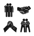 brotherhood icon set simple style vector image