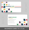 Business card template for your corporate or vector image vector image