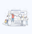 business web development collaboration vector image vector image