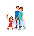 cartoon of happy family mother vector image vector image
