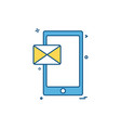 cellphone mobile phone massage icon design vector image