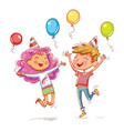 childrens birthday party vector image vector image