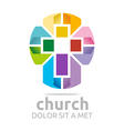 chruch croos christian icon symbol abstract vector image vector image