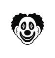 Clown black simple icon vector image