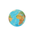 color image planet earth globe on a white vector image vector image
