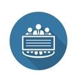 Company Profile Icon Flat Design vector image vector image