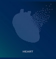 creative concept background of the human heart vector image vector image