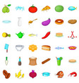 culinary icons set cartoon style vector image vector image