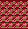cupcake pattern red background vector image vector image
