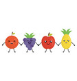 delicious fruits kawaii characters vector image