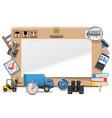 Delivery Board vector image vector image
