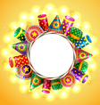 diwali crackers background vector image vector image