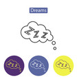 dreams line icon vector image vector image