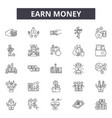 earn money line icons signs set outline vector image vector image