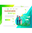 eco friendly campaign web landing page template vector image