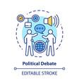 elections concept icon political debate talking vector image