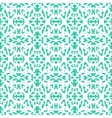 Elegant lace pattern with white lines on aqua blue vector image vector image