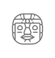 ethnic tribal mask mayan aztec line icon vector image