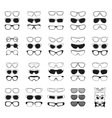 fashionable glasses simple black icons set vector image vector image