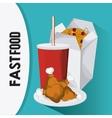 Fast food design menu icon Colorful vector image vector image