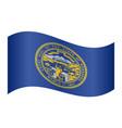 flag of nebraska waving on white background vector image vector image