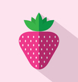 Flat Design Strawberry Icon vector image