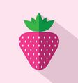 Flat Design Strawberry Icon vector image vector image
