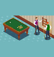 game of billiards composition vector image vector image