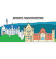 germany neuschwanstein city skyline vector image vector image