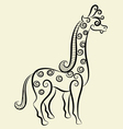 Giraffe decorative vector image