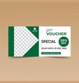 green gift voucher vector image vector image