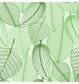 Green leaves seamless pattern background vector image vector image