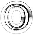 Grunge Font letter o vector image vector image