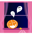 halloween window vector image vector image