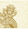 hand draw ornate abstract flower background vector image