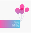 happy birthday cute minimal greeting background vector image