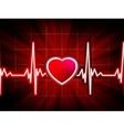 Heart beating monitor vector image vector image